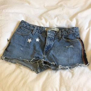 Gap bootcut shorts with embroidery